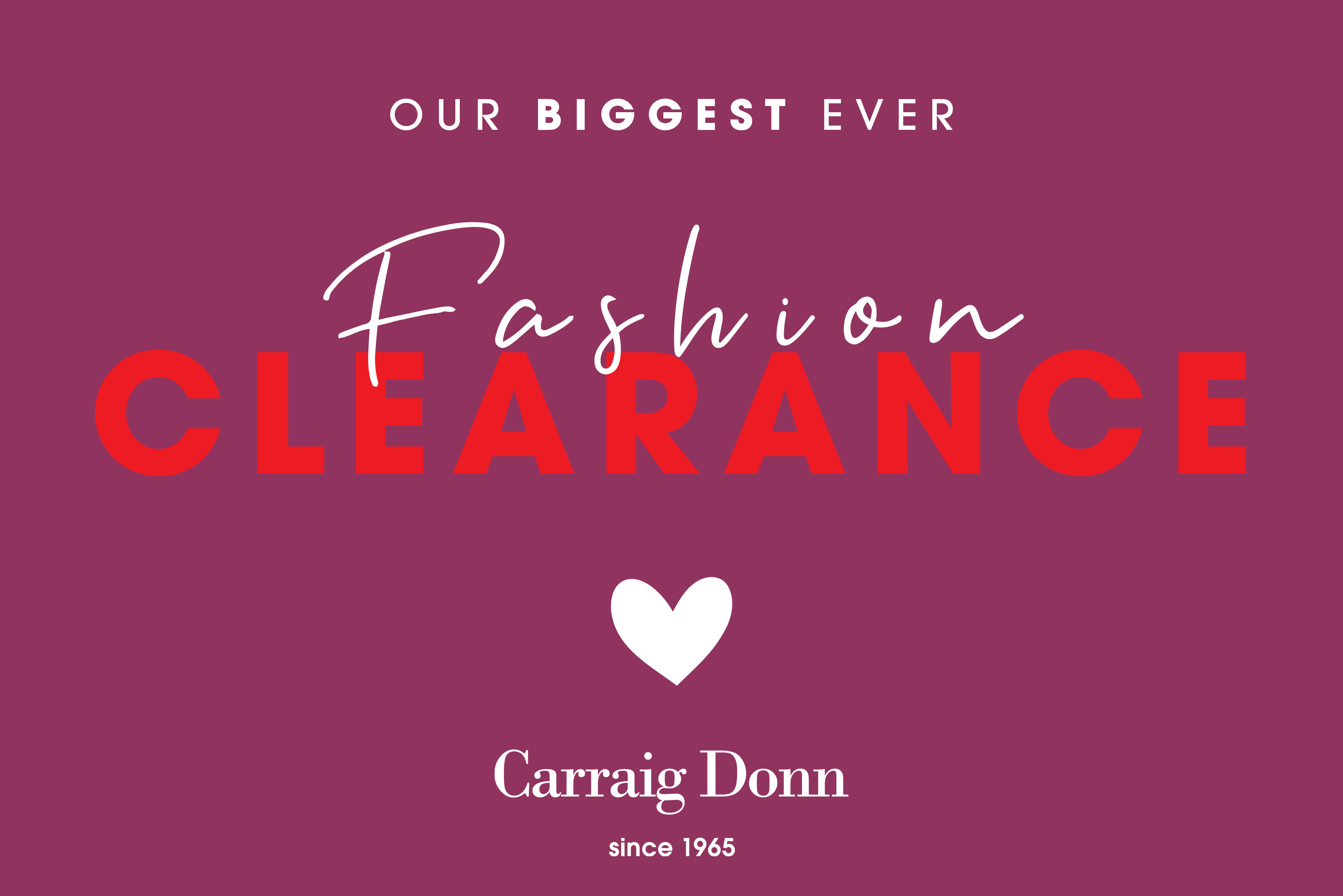Massive Clearance Sale at Carraig Donn - EVERYTHING Must Go!