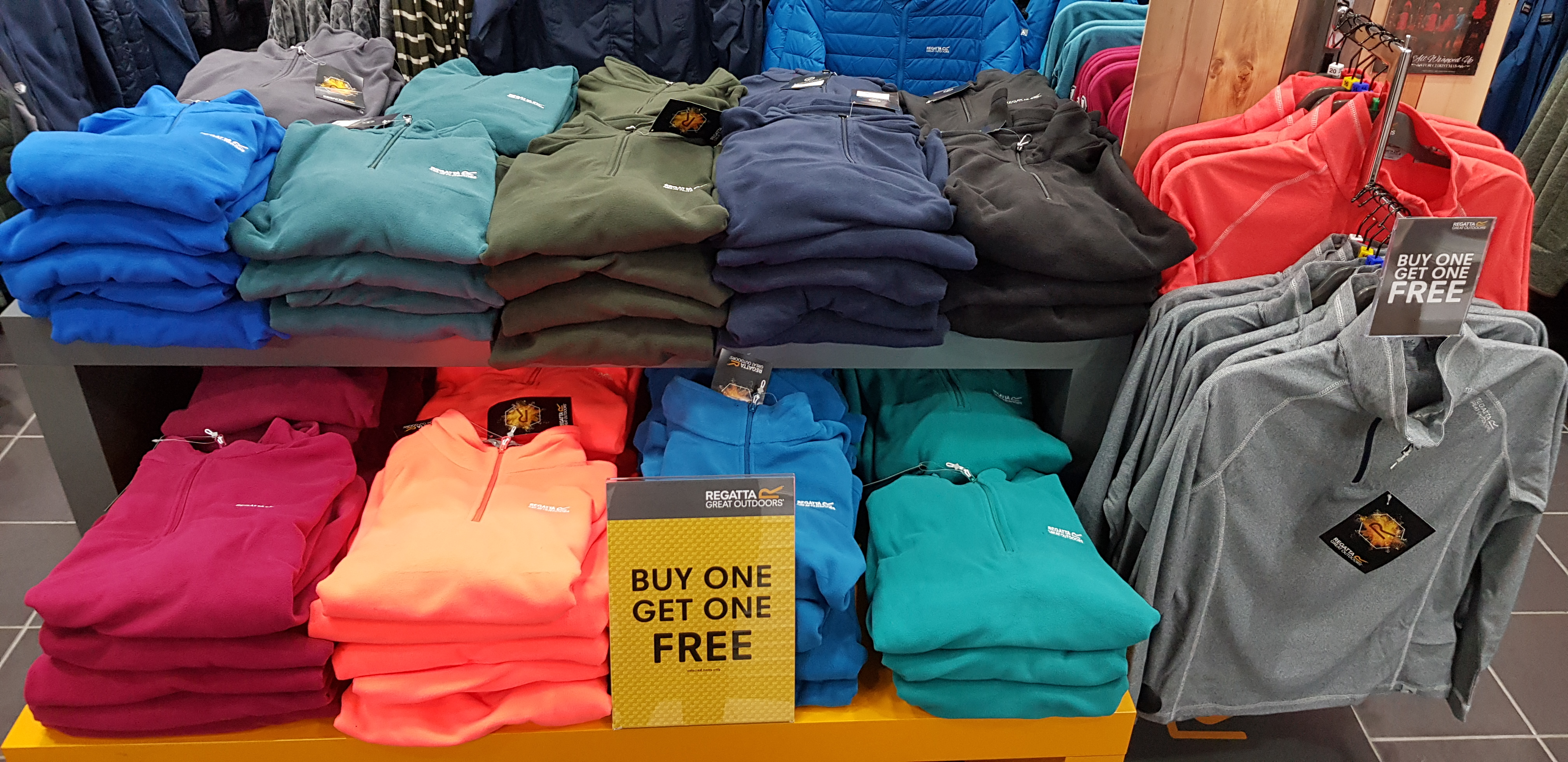 3 for 2 on Selected Fleece Collections at Regatta!