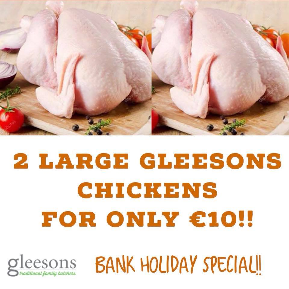 Great value this August Bank Holiday weekend in Gleeson Butchers!!