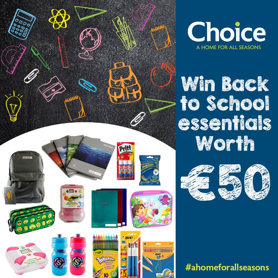 Choice is giving away €50 worth of Back to School Essentials!