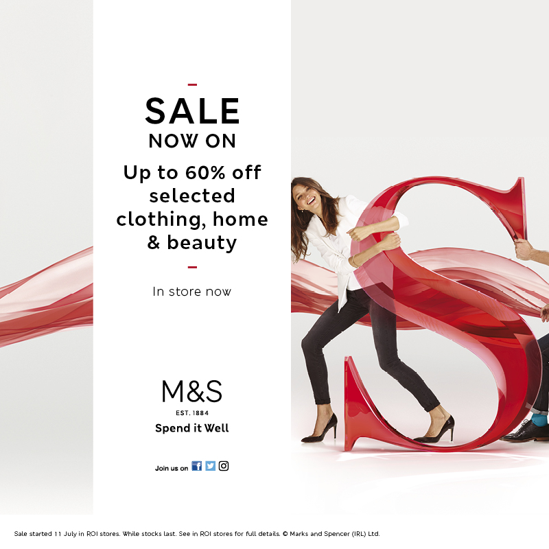M&S SALE WITH UP TO 60% OFF!