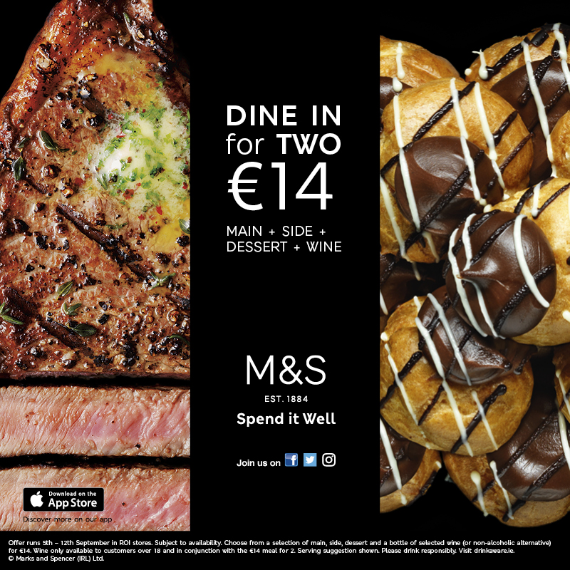 Dine in for two at M&S