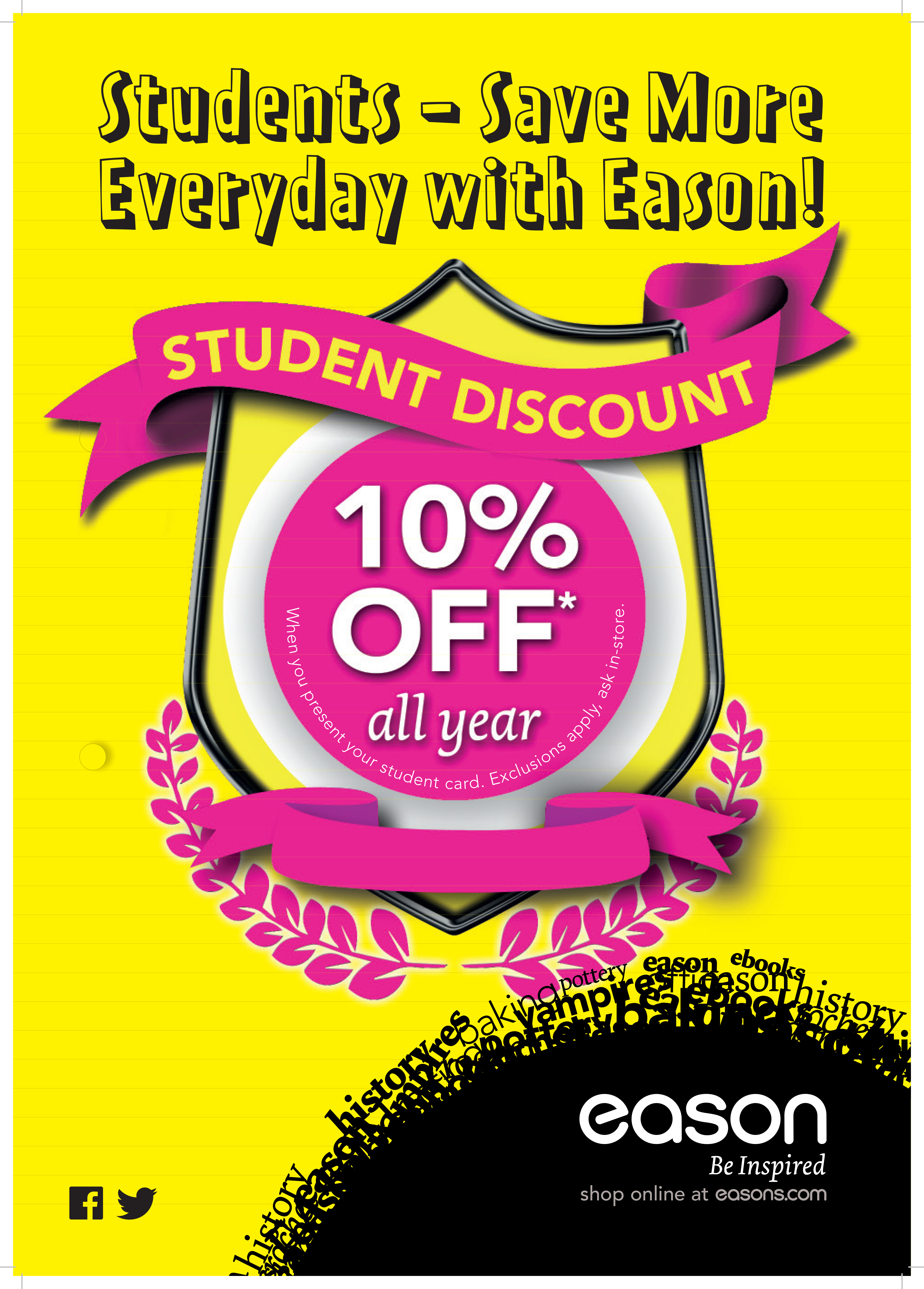 Students - Save More Everyday with Eason!