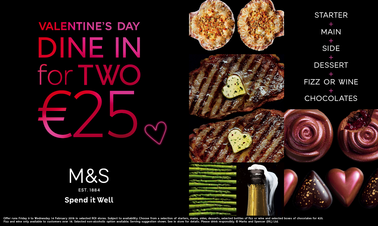 Choose your celebratory Dine In menu at M&S
