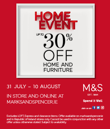 Home Event starting tomorrow 31st July in M&S