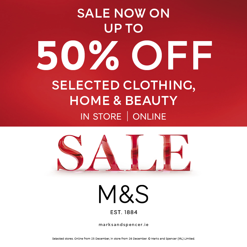 Up to 50% off Selected Clothing, Home & Beauty at M&S!