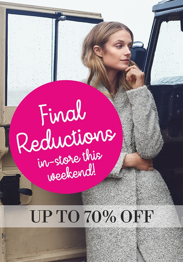 Final Reductions in store at Pamela Scott
