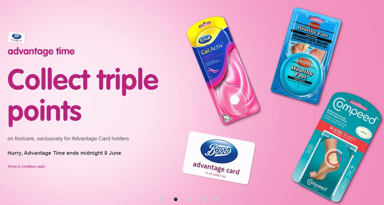 Triple Points on Foot care @ Boots