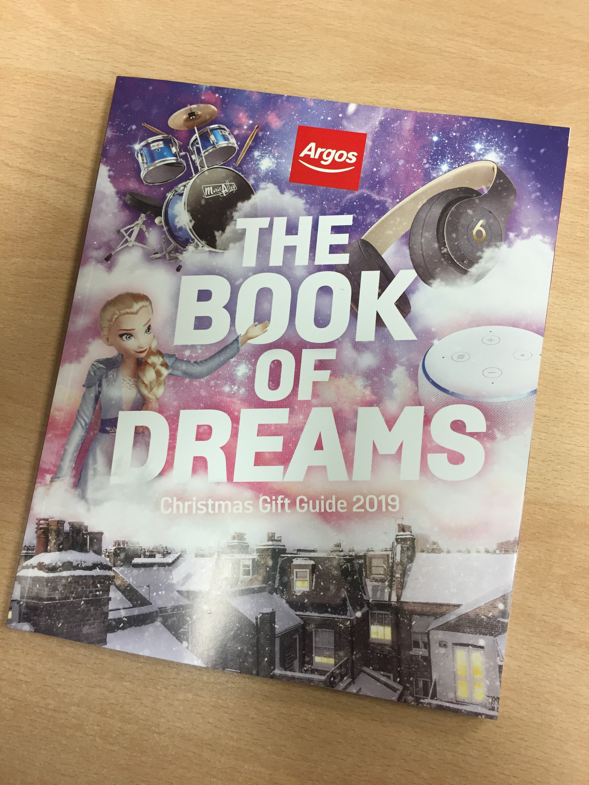 "The Argos gift guide ""book of dreams"""