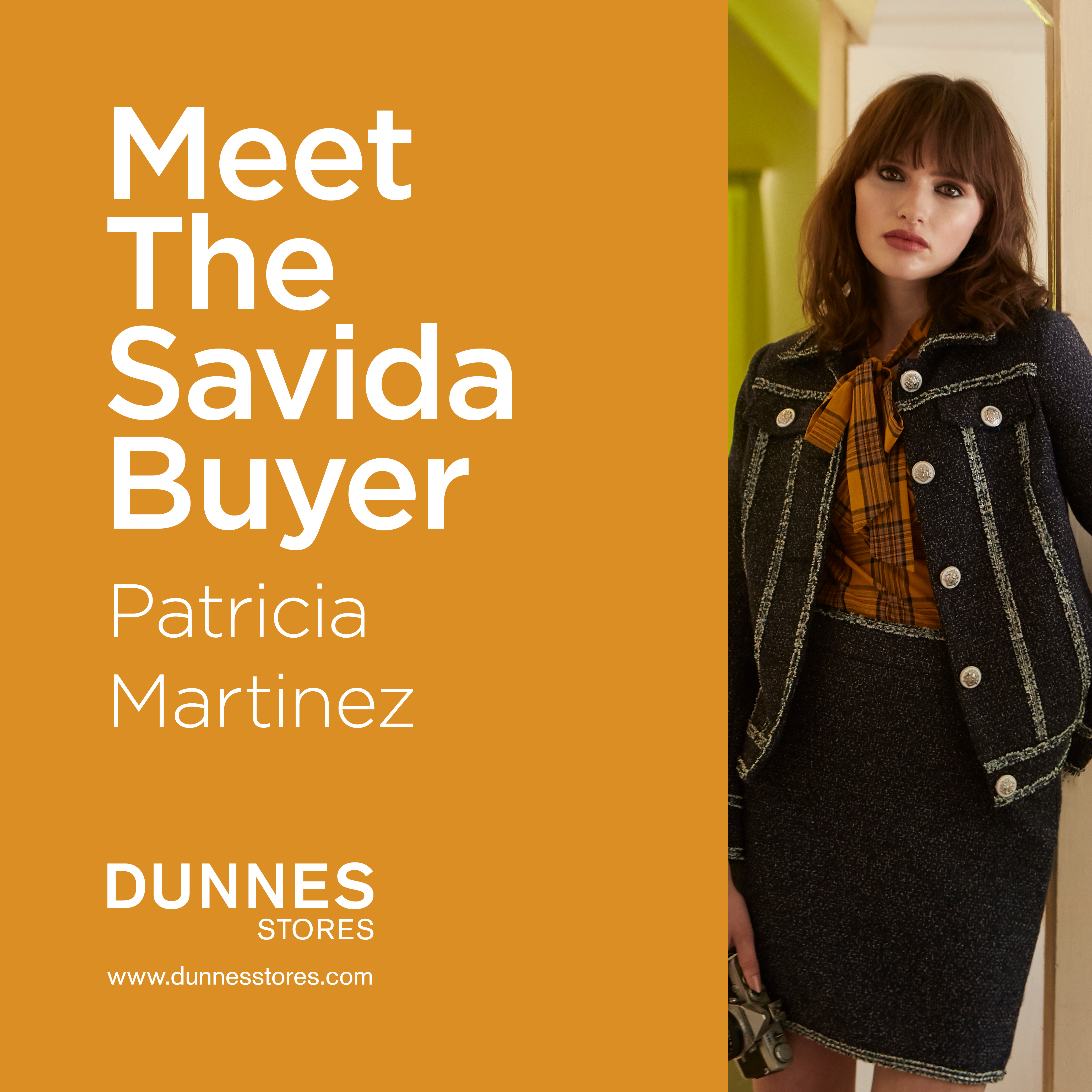 Join Savida buyer Patricia Martinez for an in-store workshop at Dunnes Stores Navan on Saturday the 18th of August from 11am-3pm, as she previews the new AW18 collection.