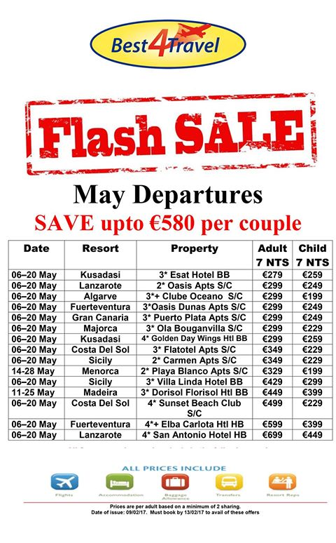 Flash Sale at Best4Travel