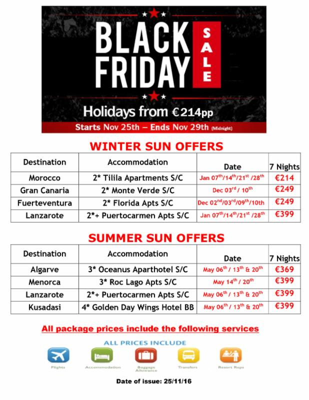 BLACK FRIDAY OFFERS AT BEST 4 TRAVEL