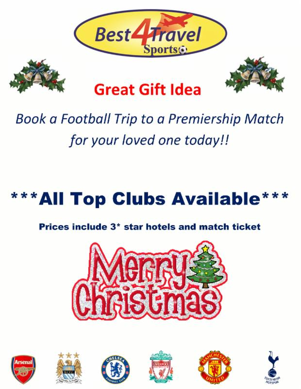 Premiership Football Trip..What a Christmas Gift