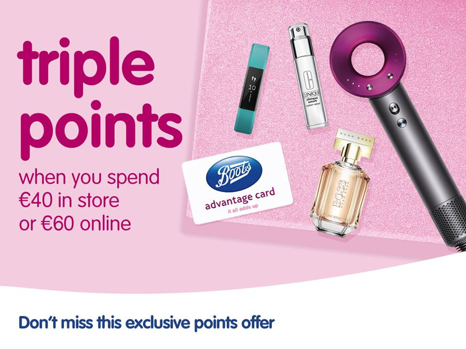 Triple Points at Boots!