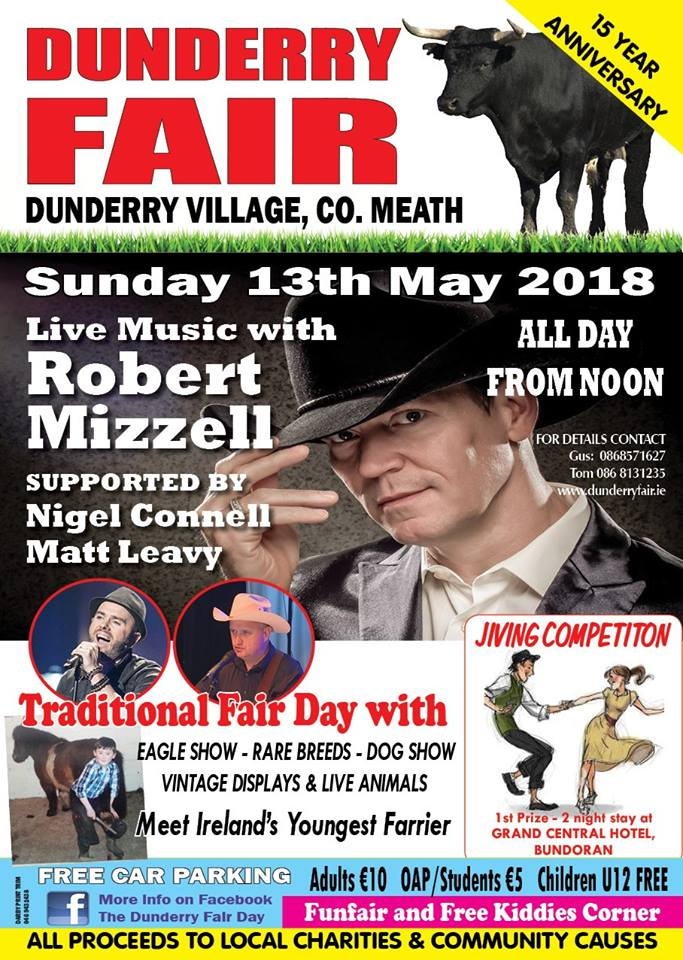 WIN WIN WIN two FREE tickets for three lucky families for DUNDERRY FAIR this Sunday 13th May