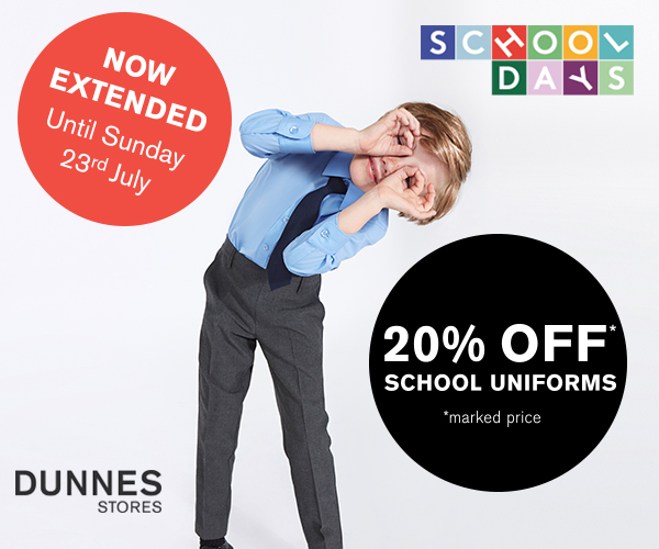 Extended School Uniform Sale at Dunnes Stores
