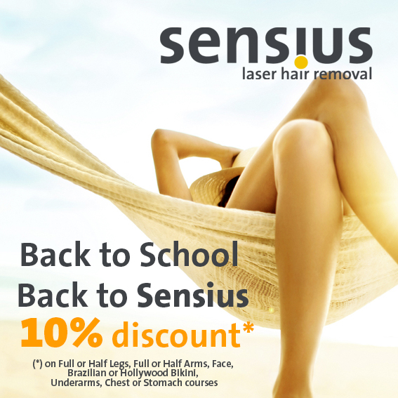August Special Offers at Sensius Laser Hair Removal Clinic