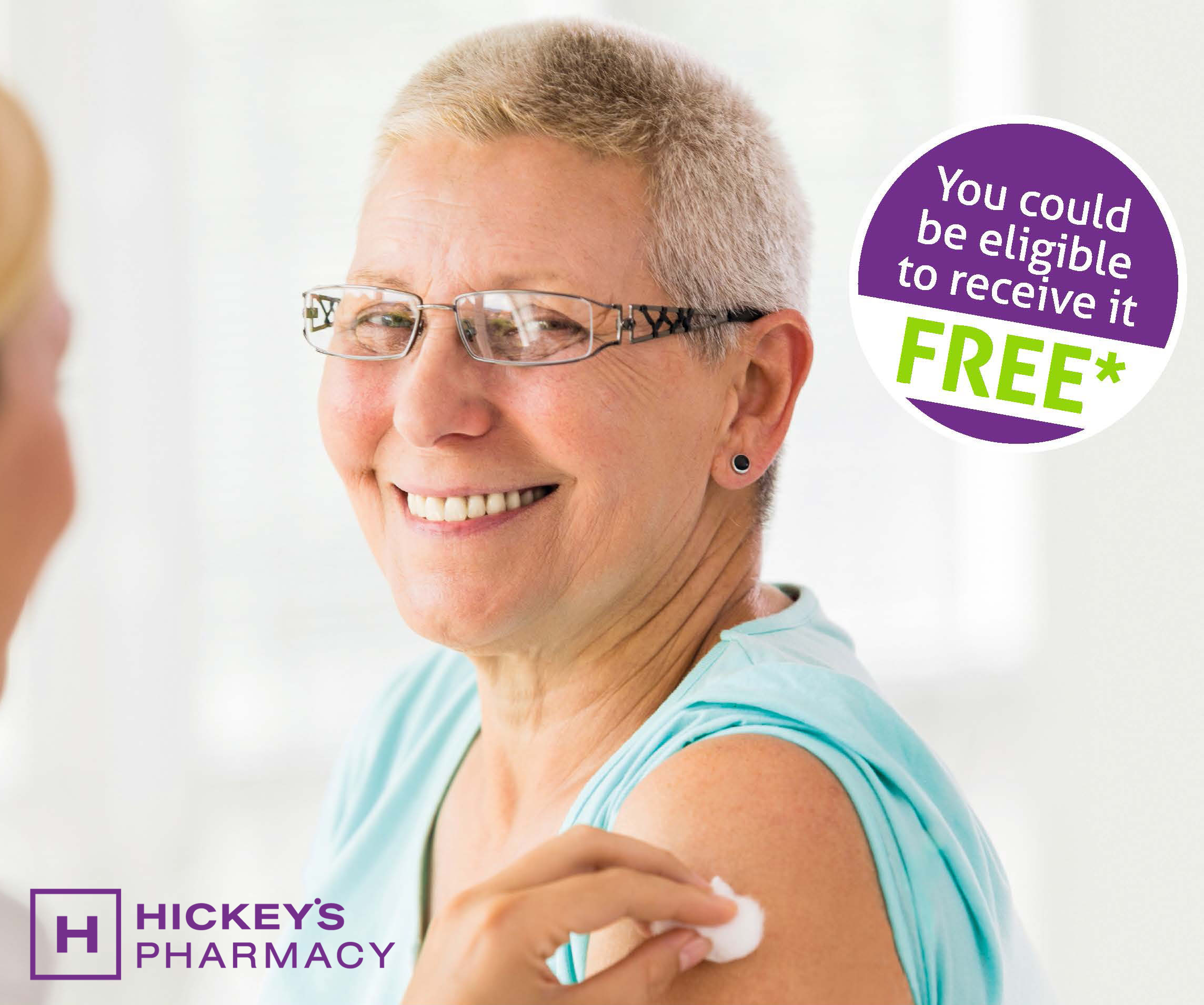 The flu vaccine is now available in Hickey's Pharmacy!