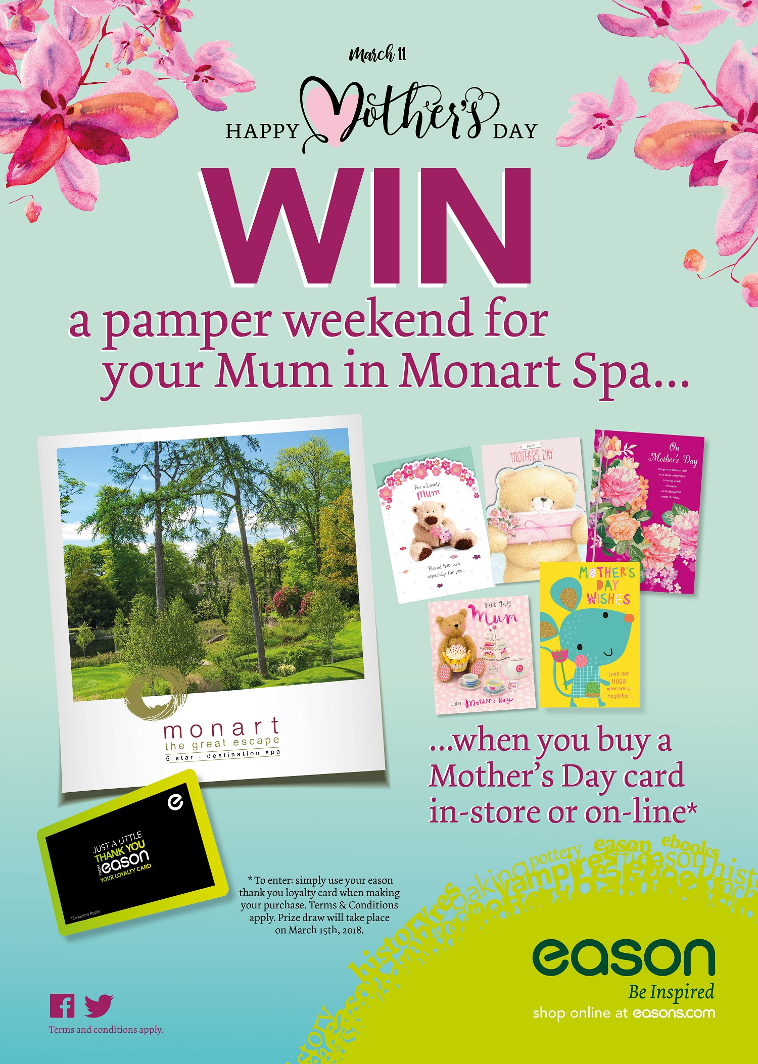 WIN a pamper weekend compliments of Easons