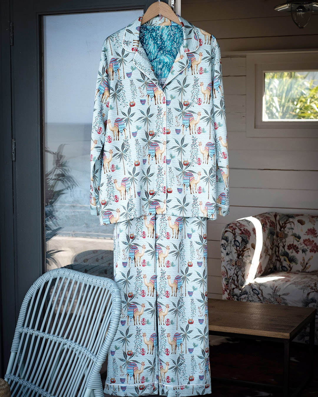 Lounge in style in Carolyn Donnelly Eclectic's new Moroccan printed nightwear at Dunnes Stores, the perfect late summer pick me up.