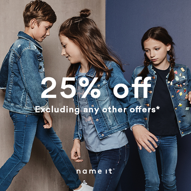 25% OFF this weekend at Name It