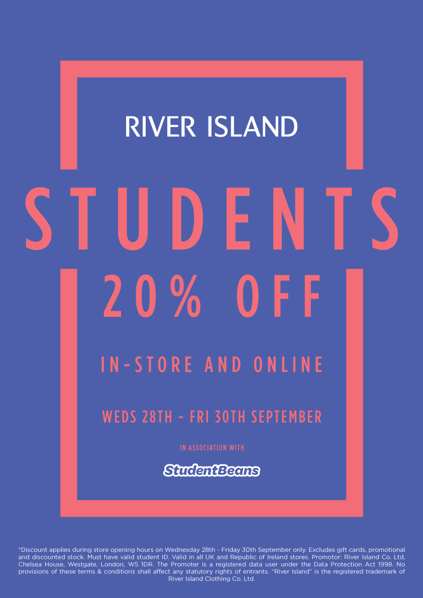 20% off STUDENT EVENT