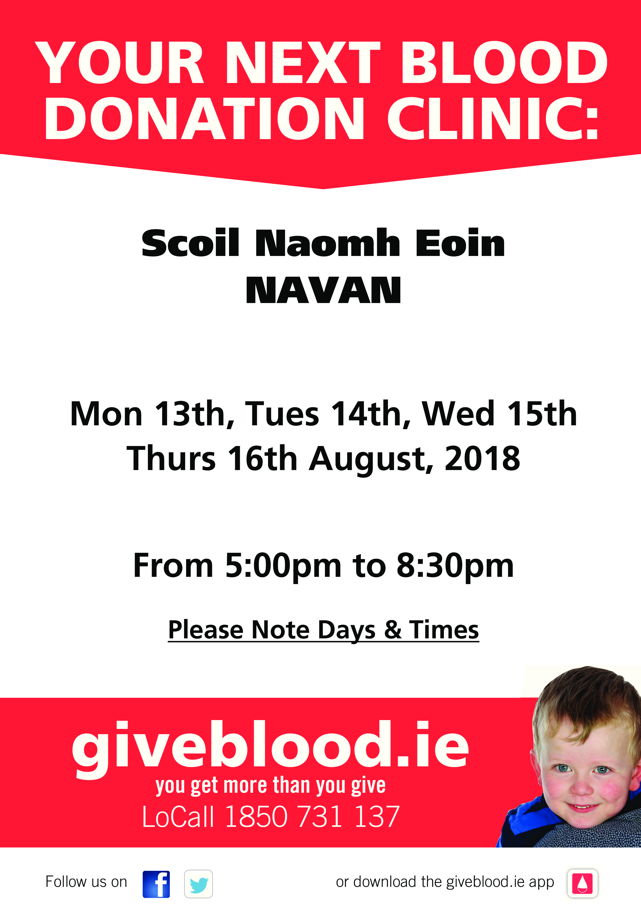 Reminder to Blood Donors in the Navan Area