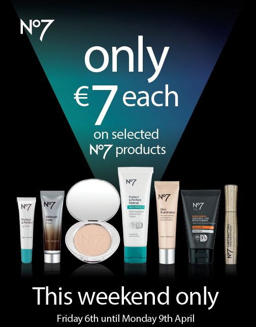 ONLY €7 on selected No7 Products at Boots