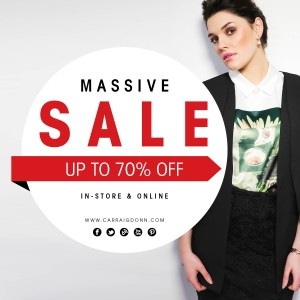 70% OFF new season styles at Carraig Donn