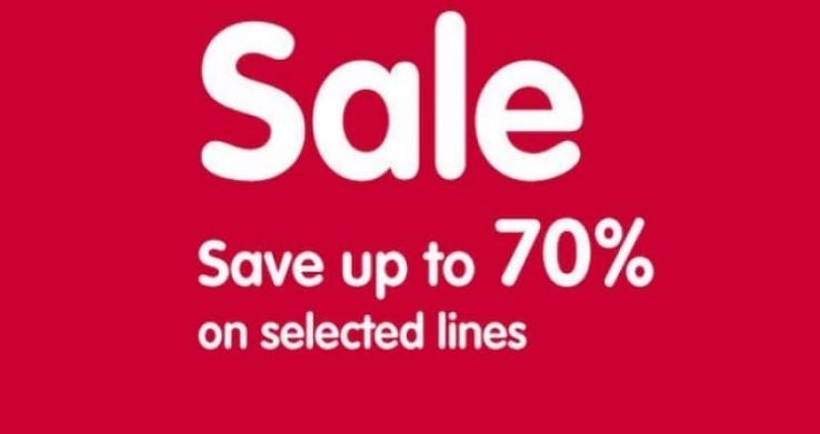 Save up to 70% off Selected Lines starts today at Boots!