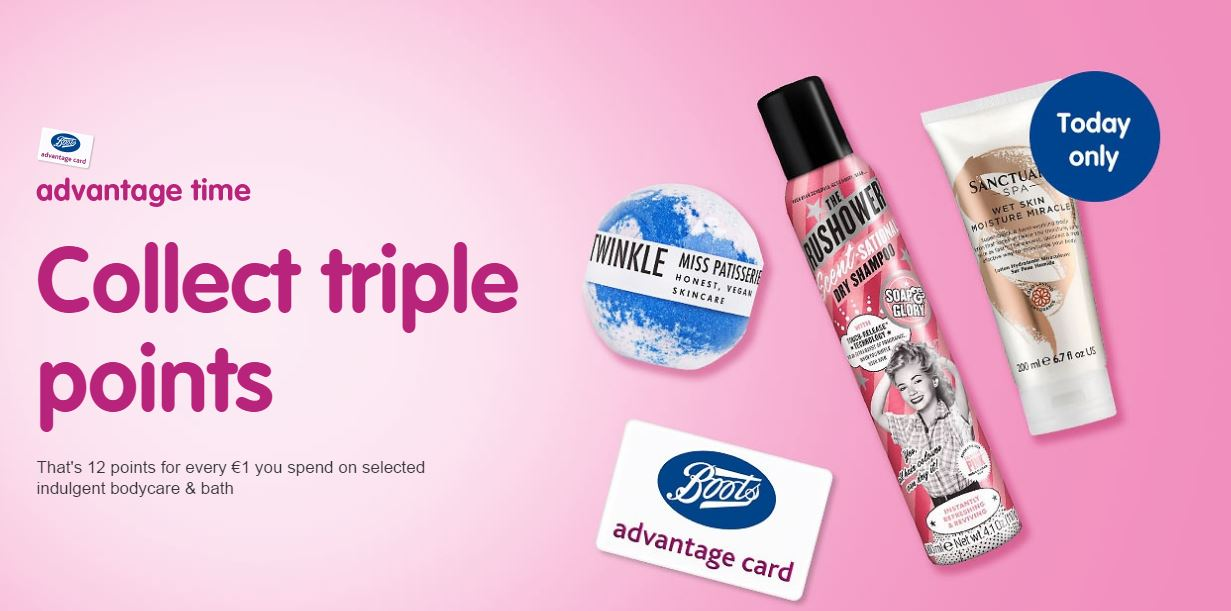 It's Advantage Time @ Boots!