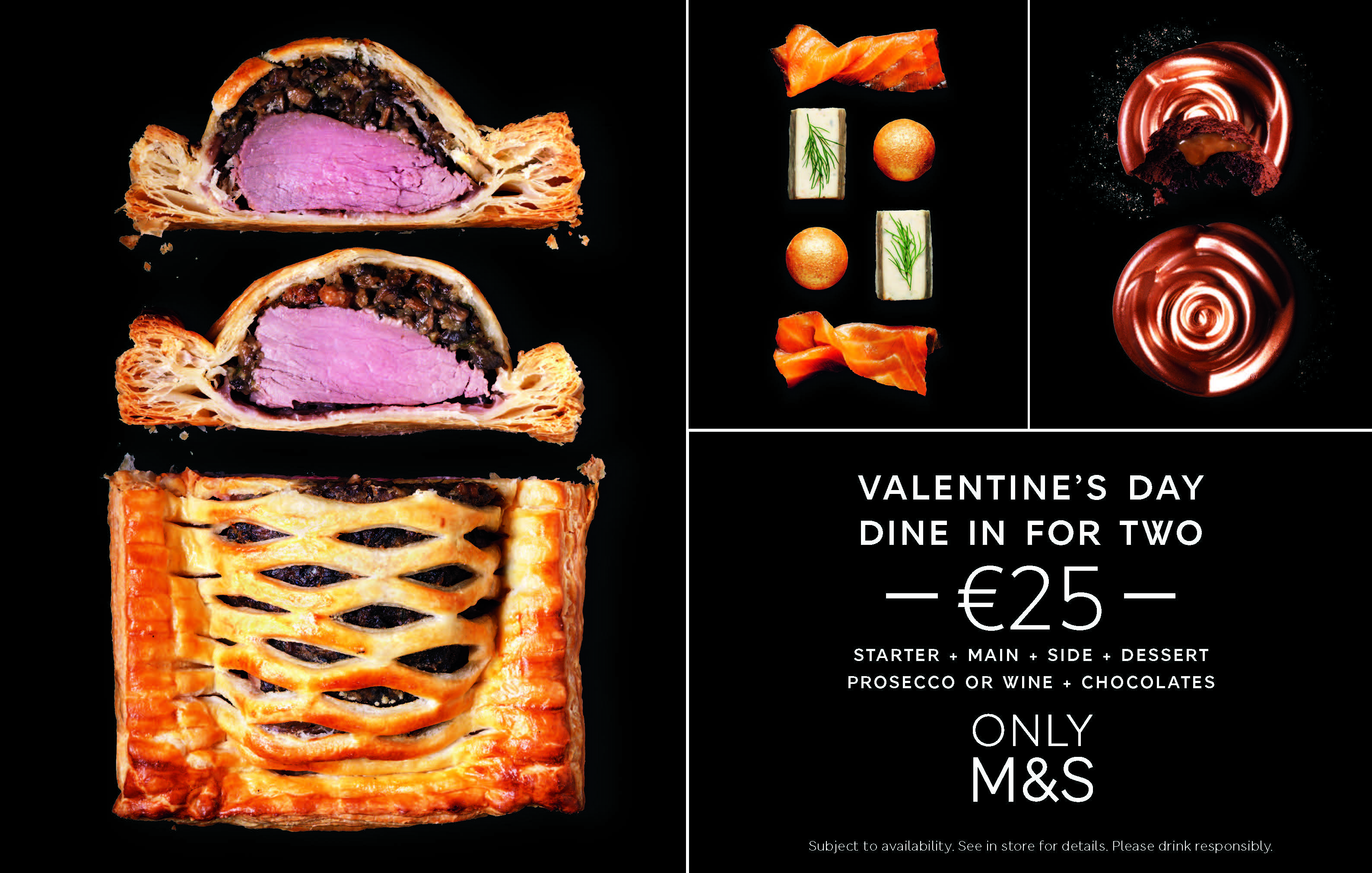 Valentines Day Dine In at M&S